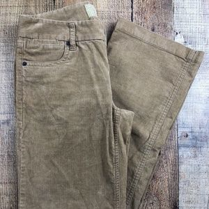 J CREW Brown Corduroy Boot Cut Low Rise Jeans AB40